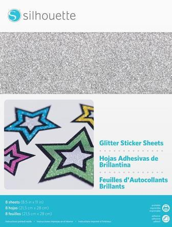 sticker paper glitter printable injet and laser