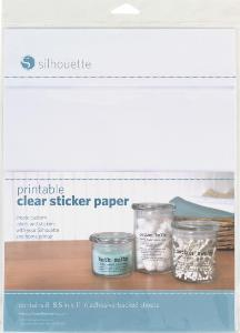 graphic about Clear Printable Paper identified as Cardstock - Adhesive: Sticker Paper - Crystal clear Printable (inkjet)